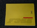 Genuine Ferrari F355 owners manual