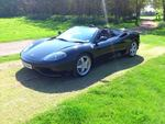 Ferrari 360 Spider Manual Nero Met / Carbon seats