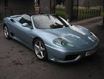 Ferrari 360 Spyder 01 Y Azzuro Blue Manual
