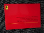 Genuine Ferrari 360 Sales and Service organisations booklet